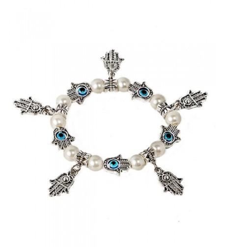 Kabbalah stretched bracelet mother silver
