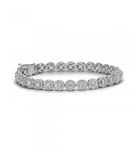 NYC Sterling Floral Design Bracelet