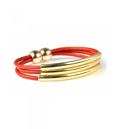 Genuine Leather Bracelet Womens Plated