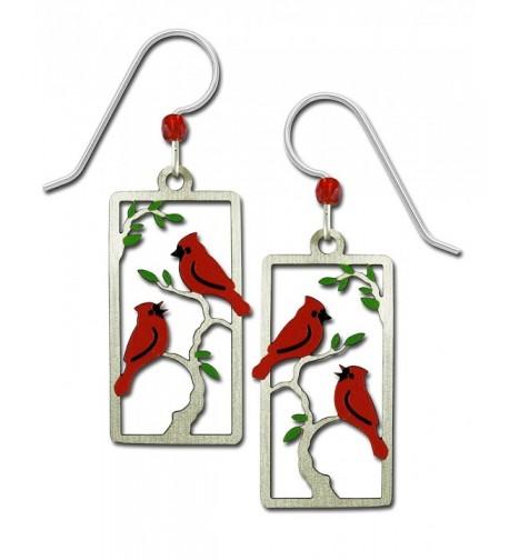 Sienna Sky Cardinals Painted Earrings