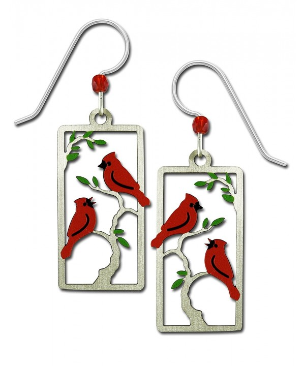 Sienna Sky Cardinals Painted Earrings