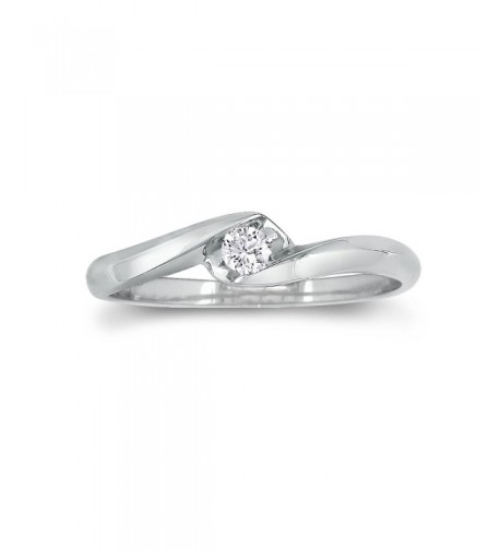 Sterling Silver Diamond Promise 0 07ct