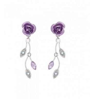 Glamorousky Earrings Austrian Crystals Crystal