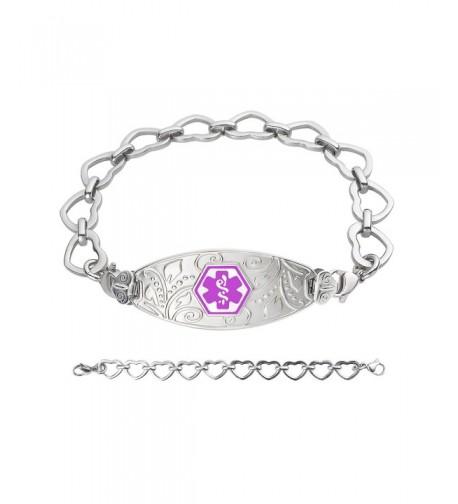 Divoti Engraved Filigree Stainless Purple 8 0