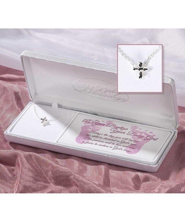 Sterling Silver Blessings Baptism Necklace