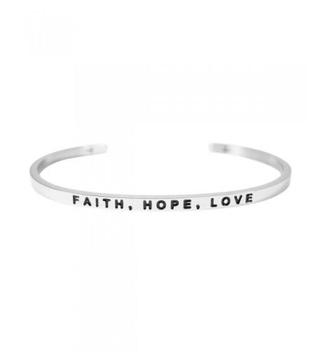 FAITH HOPE LOVE Bracelet Silver