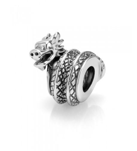 Sterling Silver Dragon Bead Charm