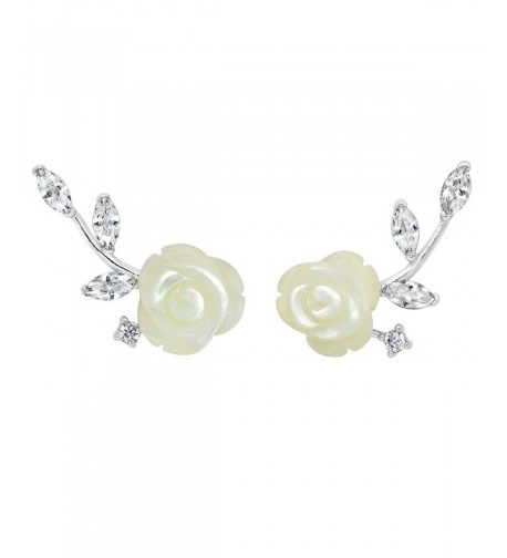 Sterling Silver Shell Flower Earrings