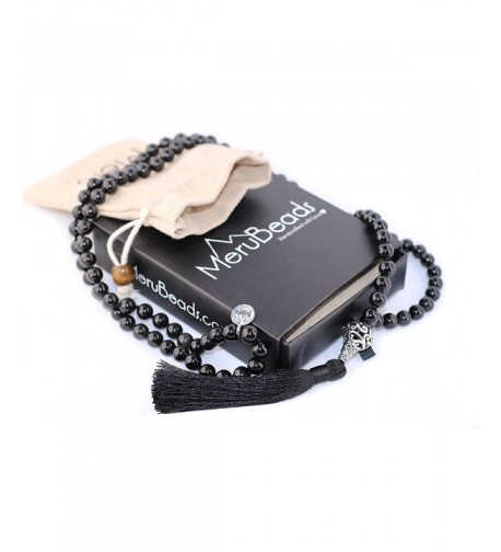 Premium Obsidian Mala Beads Necklace