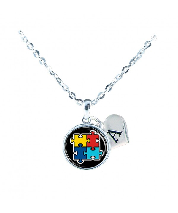 Custom Awareness Necklace Jewelry Initial