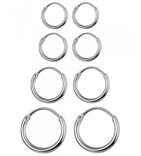 LOYALLOOK Stainless Endless Earrings 10 20MM