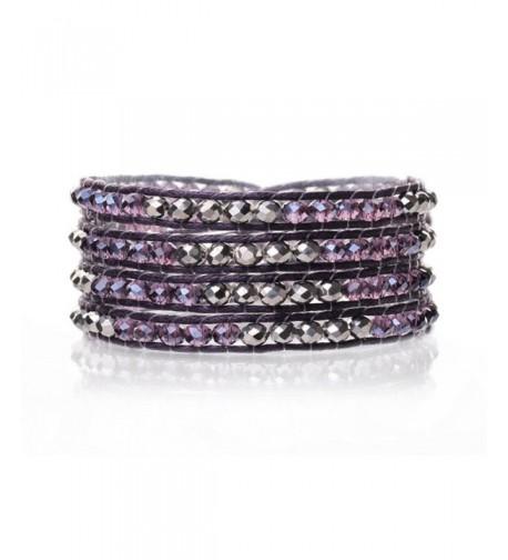 Crystals Bracelet Knotted Multilayer Crystal