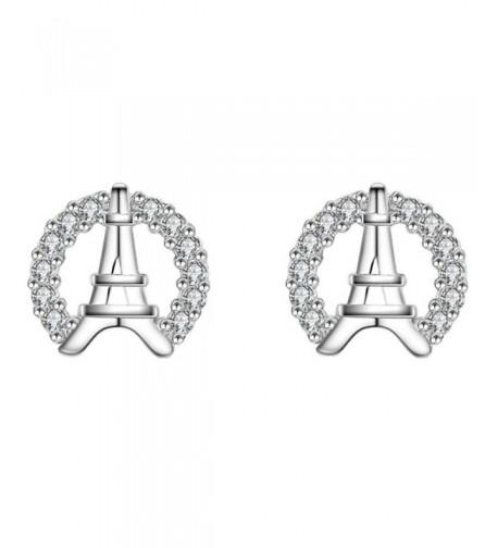 Silver Plated zirconia Shining Earrings