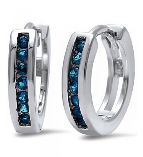 Eternity Simulated Blue Sapphire Sterling