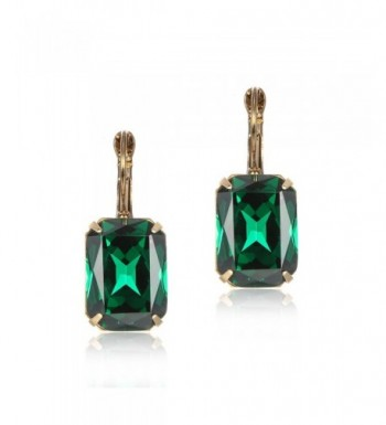 eManco Colorful Statement Leverback Earrings