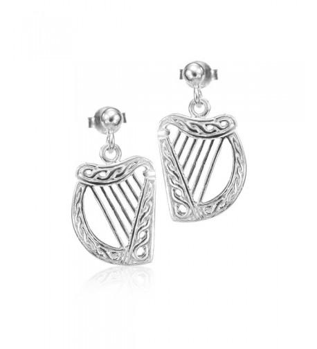 Rhodium Plated Sterling Silver Earrings