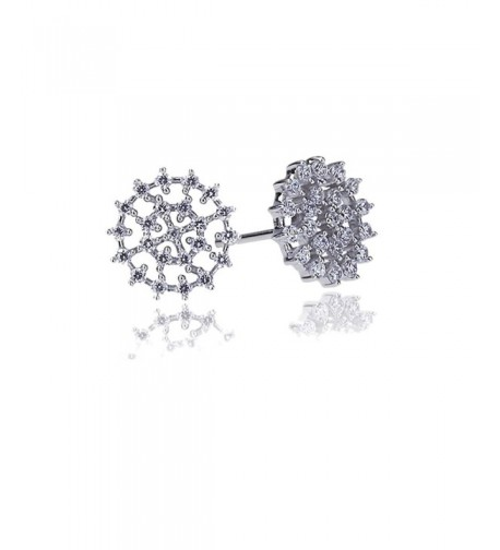 Rhodium Sterling Setting Abstract Earrings