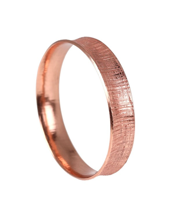 Linen Anticlastic Copper Bangle Bracelet