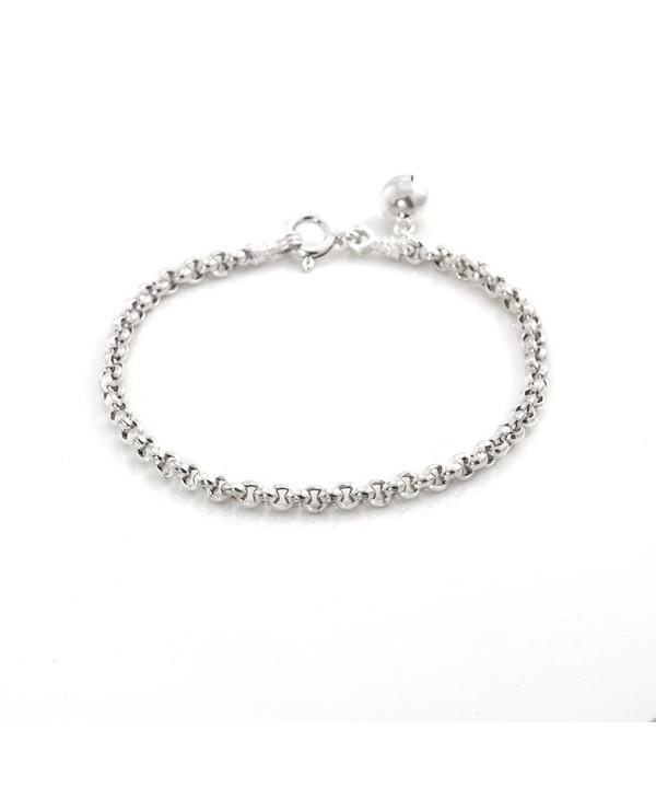 Silverly Womens Sterling Silver Bracelet