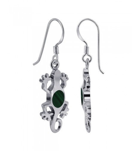 Gem Avenue Sterling Malachite Earrings