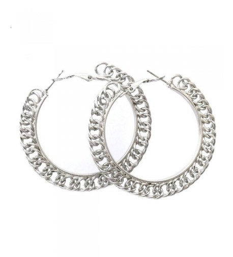 Simple Chain Smooth Silver Earrings