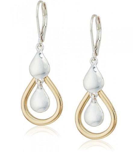 napier two tone orbital drop earrings