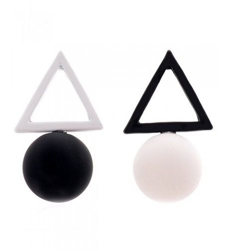 MISSUSO Geometric Different Earrings black white