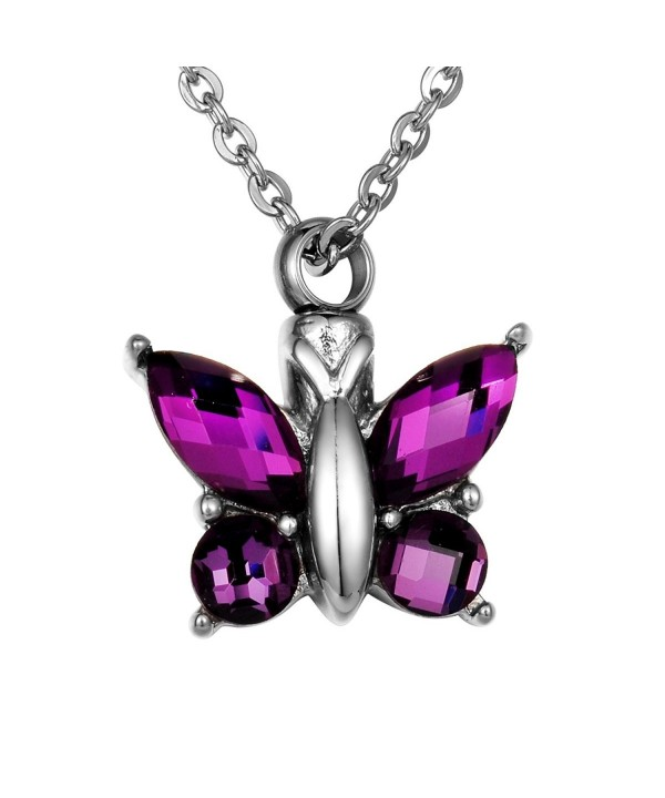 Cremation Butterfly Keepsake Memorial Necklace