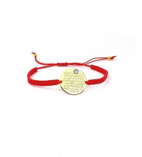 Bracelet Gold Colour red cord