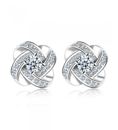 Eyesworld Sterling Silver Zirconia Earrings