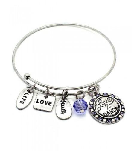 Symbology Dance Bangle Bracelet Silver