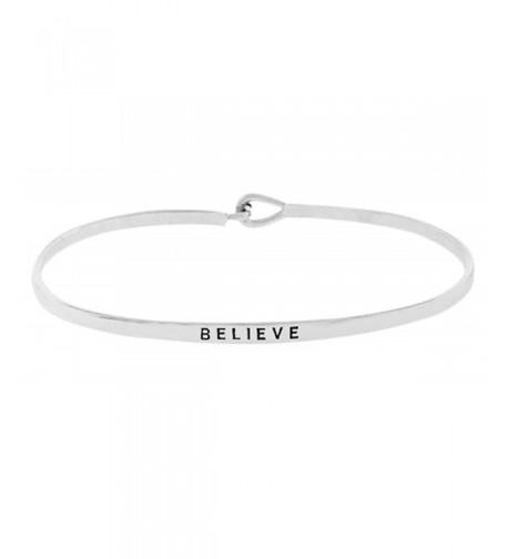 Inspirational BELIEVE Positive Engraved Bracelet