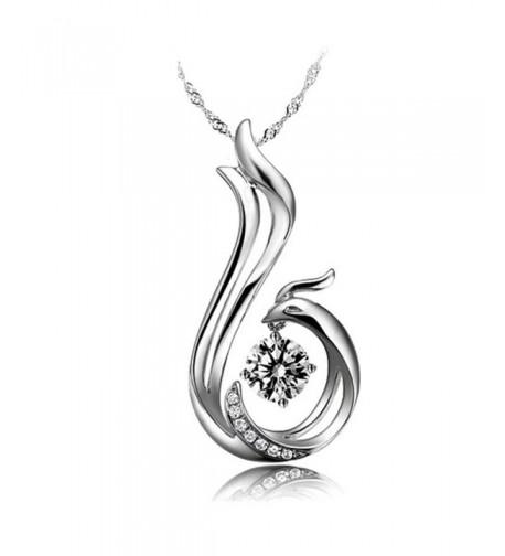 Latigerf Phoenix Necklace Sterling Austrian