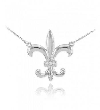 Sterling Silver Fleur Pendant Necklace