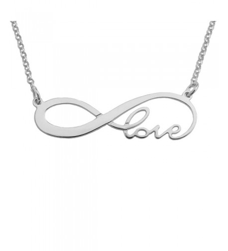 inf01L Sterling Silver Infinity Necklace