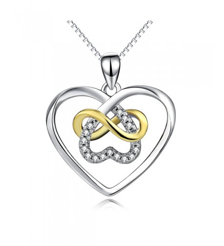 Sterling Platinum Polished Infinity Necklace