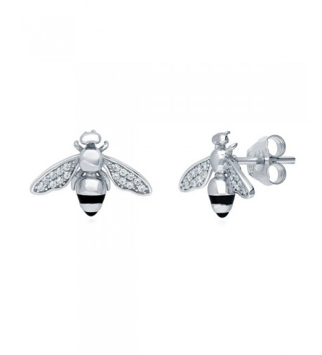 BERRICLE Sterling Earrings Swarovski Zirconia