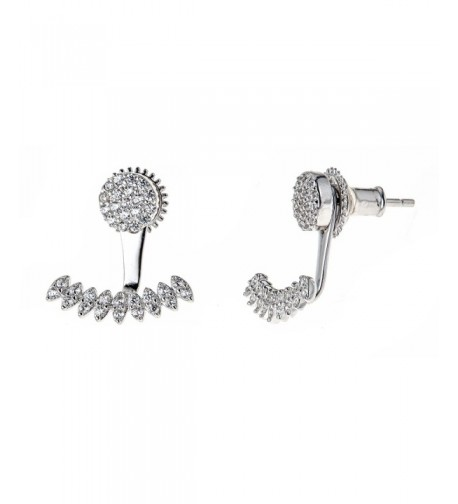 Platinum Sterling Zirconia Earring Jackets