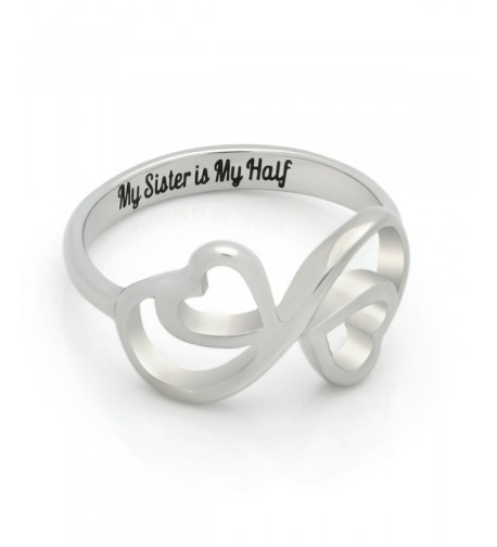 Sister Promise Double Heartl Engraved