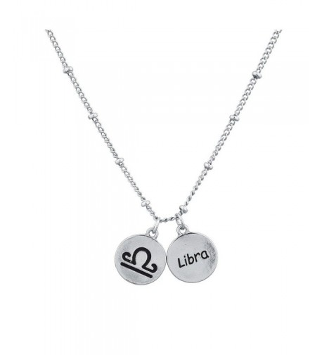 Lux Accessories Silvertone Astrological Necklace