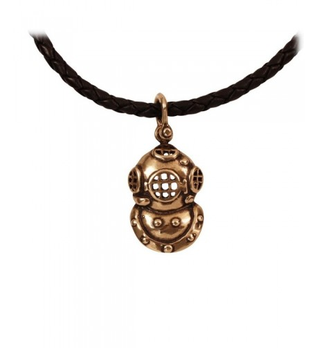 Vintage Helmet Marine Leather Necklace