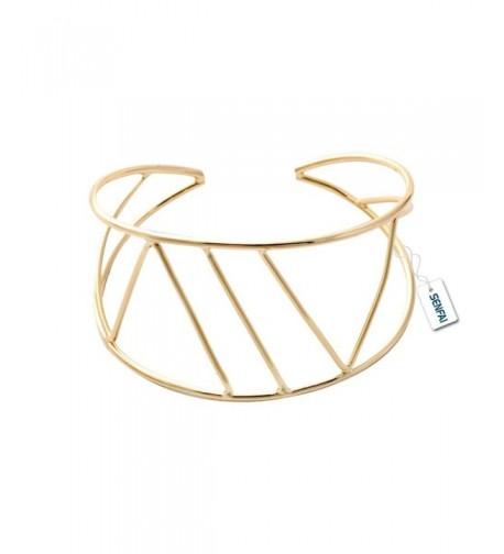 SENFAI Geometric Bangles Statement Bracelets