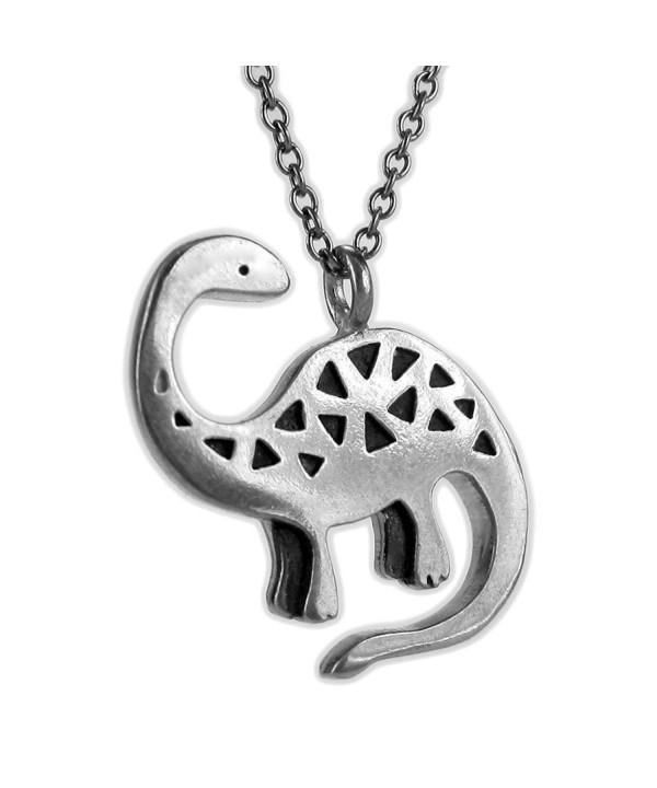 Mark Poulin Necklace Brontosaurus Dinosaur