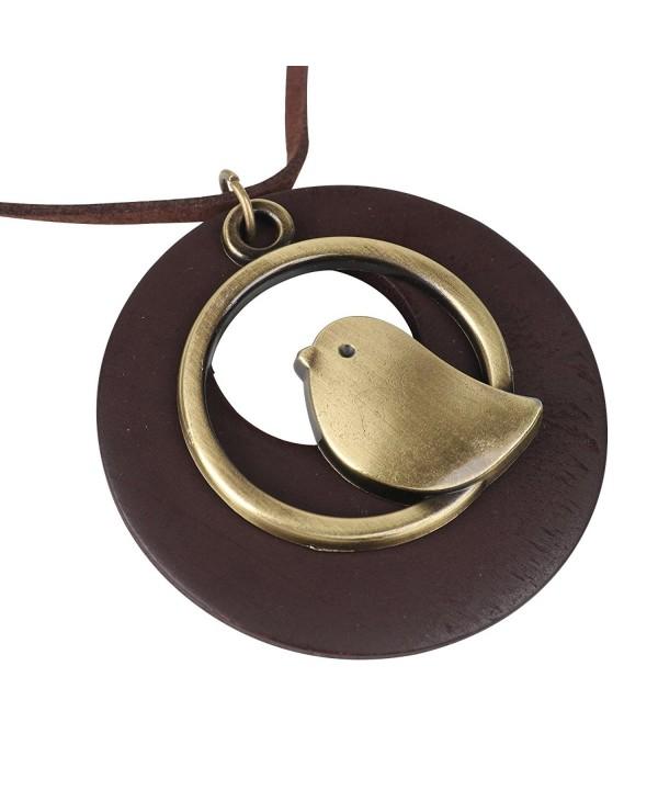 QIAONAI Pendant Handmade Jewelry Leather