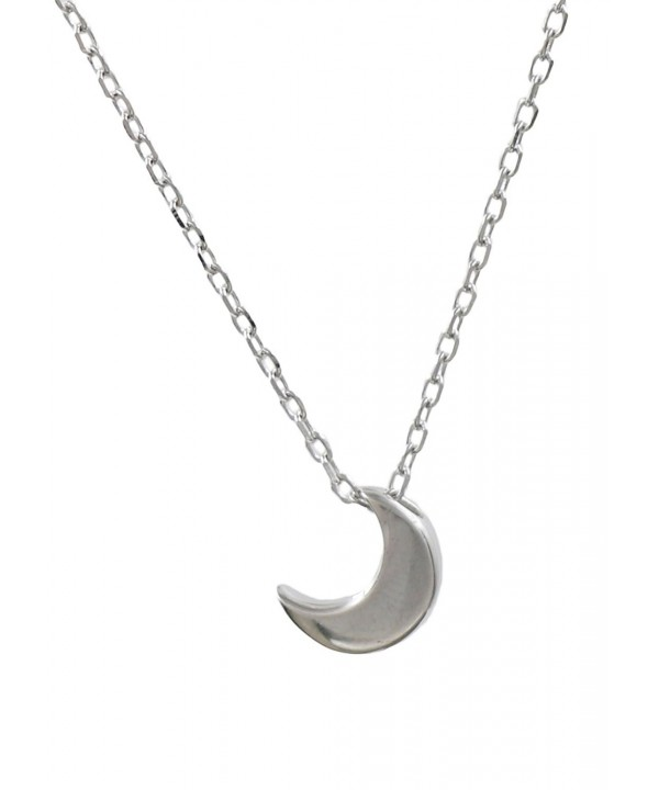 Sterling Silver Crescent Pendant Necklace