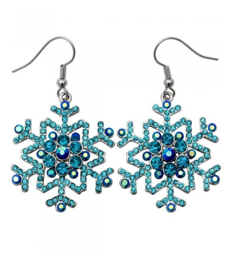 Stephenie Jewelry Snowflake Earrings Christmas