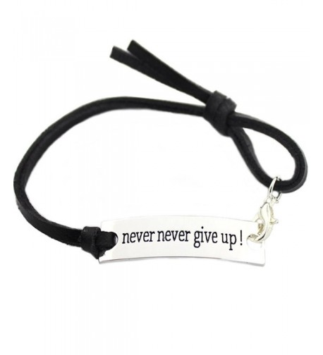 Inspirational Bracelet never Engraved Positive Thinking