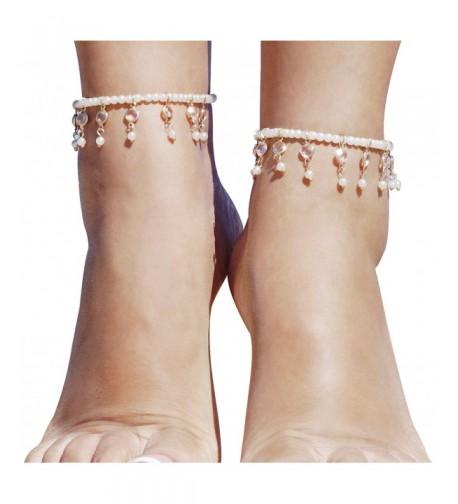 Womens Barefoot Sandals Imitation Jewelry