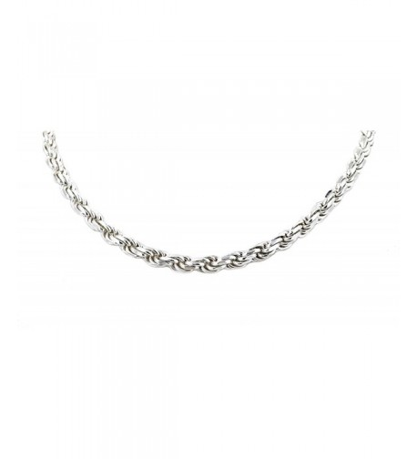Solid Sterling Silver Diamond Chain