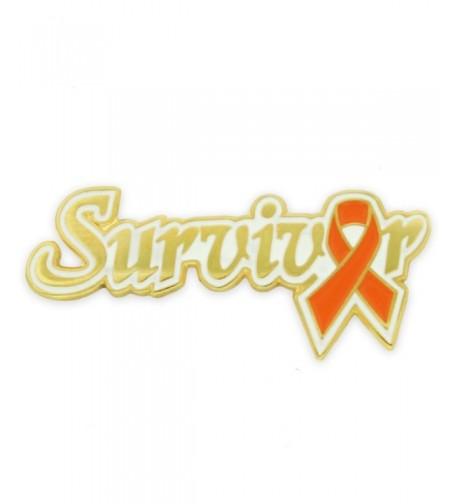PinMarts Orange Awareness Ribbon Survivor